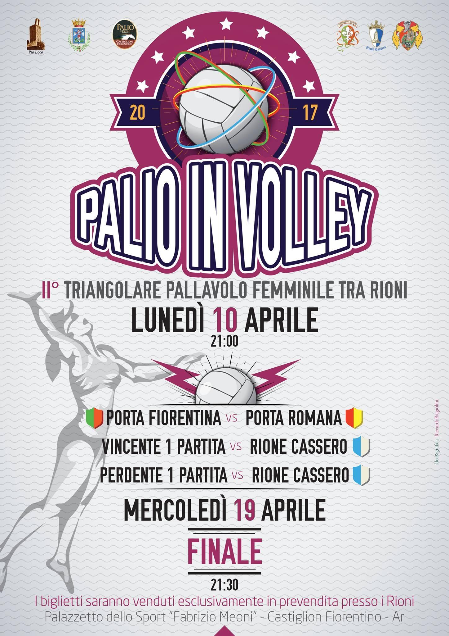 Palio in Volley, seconda edizione del torneo fra Rioni castiglionesi
