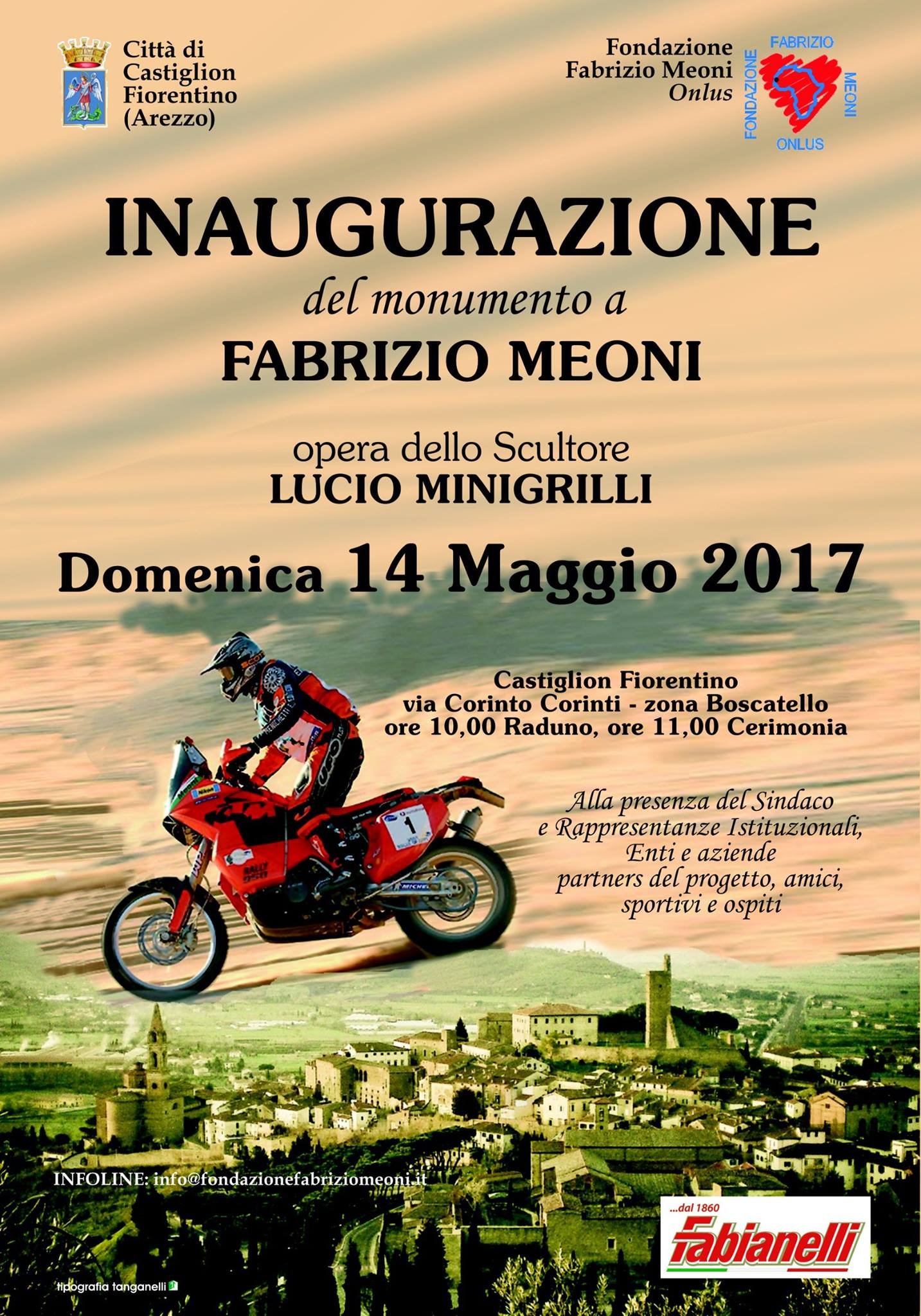 Monumento a Fabrizio Meoni, domenica l'inaugurazione