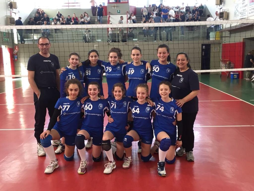 Cortona Volley, l'Under 13 femminile sul podio provinciale
