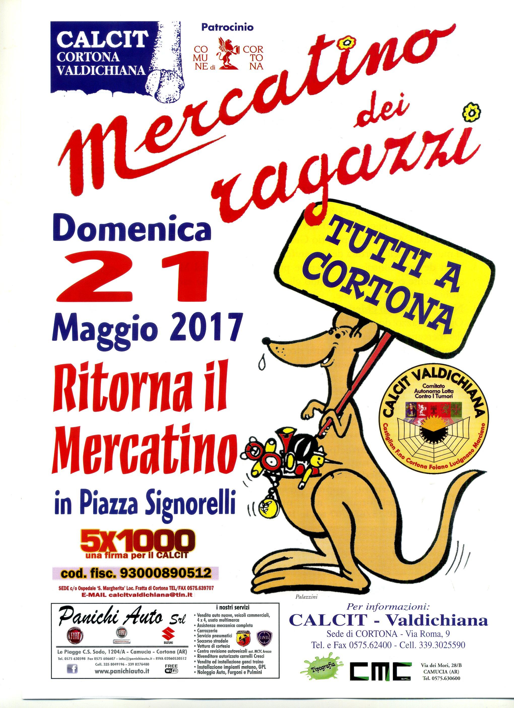 Domenica a Cortona il Mercatino del Calcit