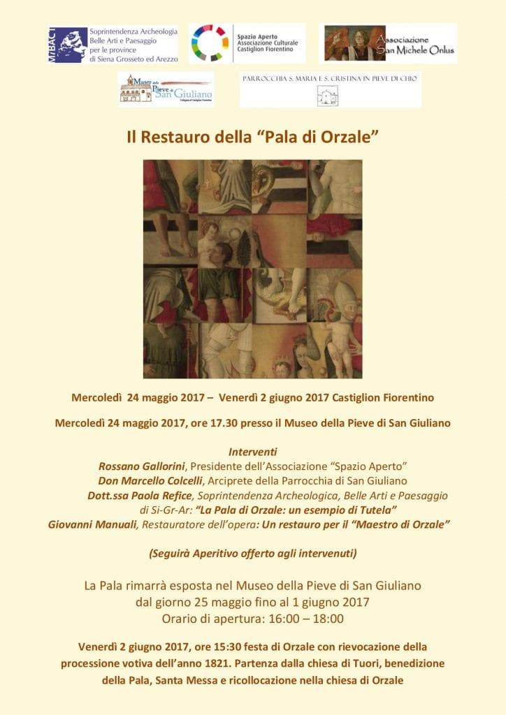 Restauro della Pala di Orzale, il 24 Maggio la presentazione