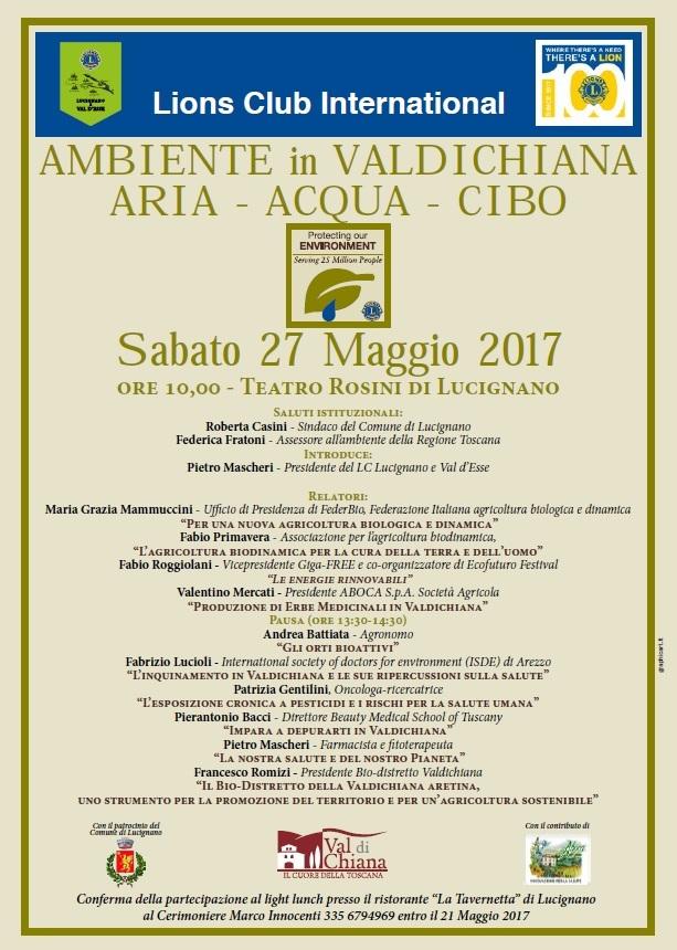 A Lucignano un convegno sull'ambiente in Valdichiana promosso dai Lions
