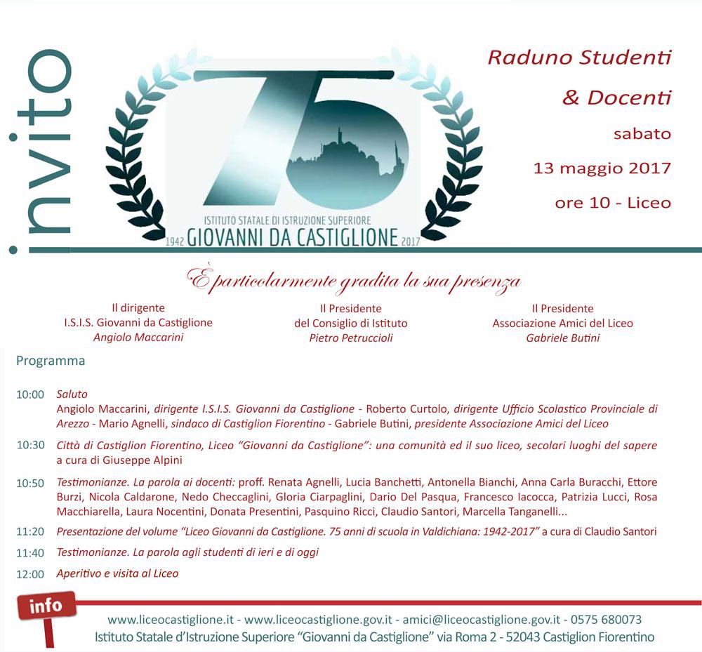 75 anni del Liceo, raduno degli ex studenti a Castiglion Fiorentino