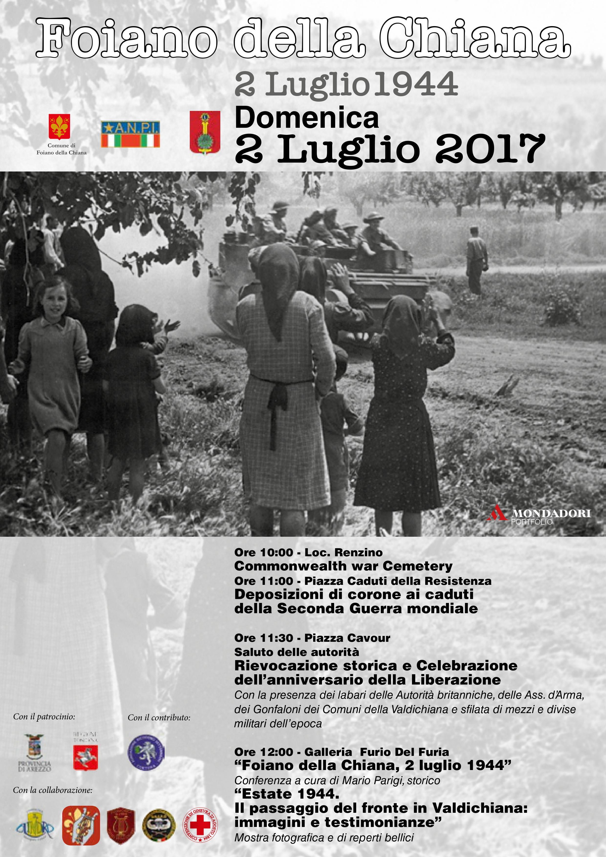 2 Luglio, iniziative nell'anniversario della Liberazione di Foiano