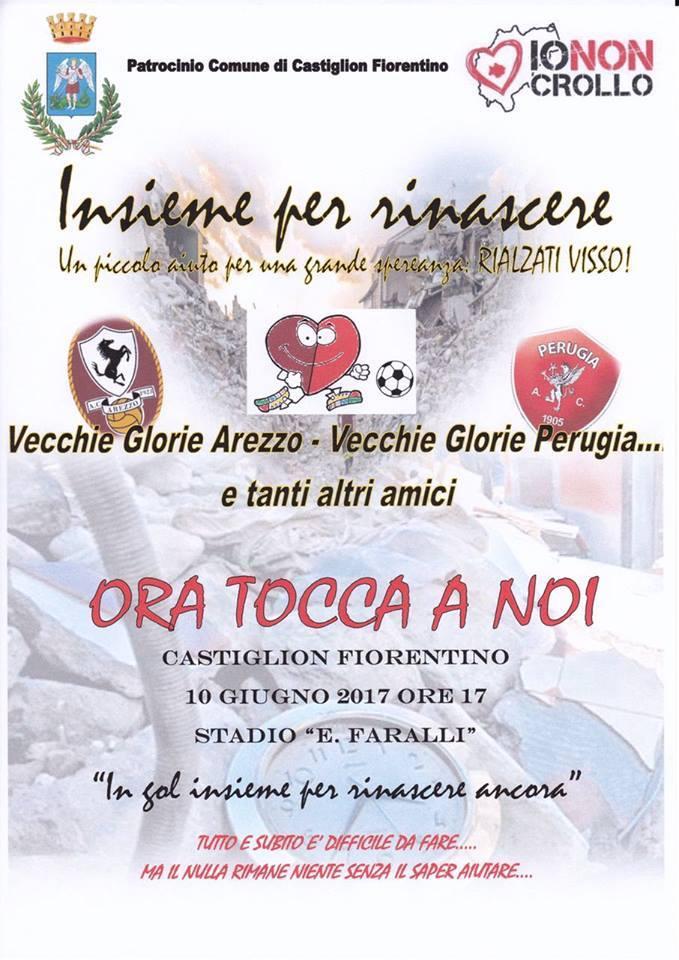 Vecchie glorie di Arezzo e Perugia in campo per Visso a Castiglion Fiorentino