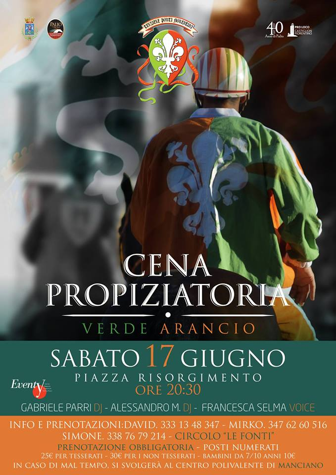 Cena propiziatoria del Terziere Porta Fiorentina