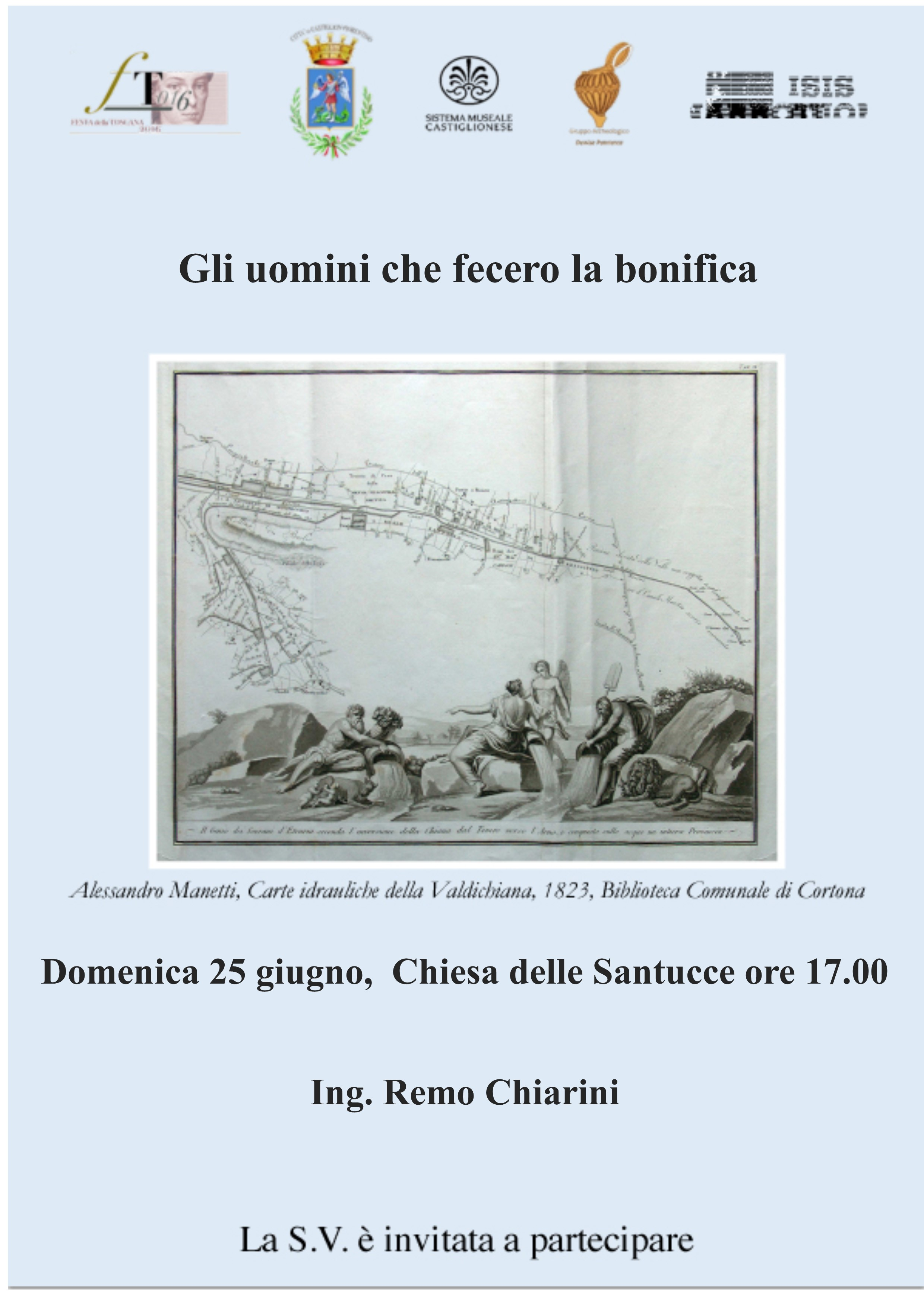 'Gli uomini che fecero la bonifica', conferenza di Remo Chiarini