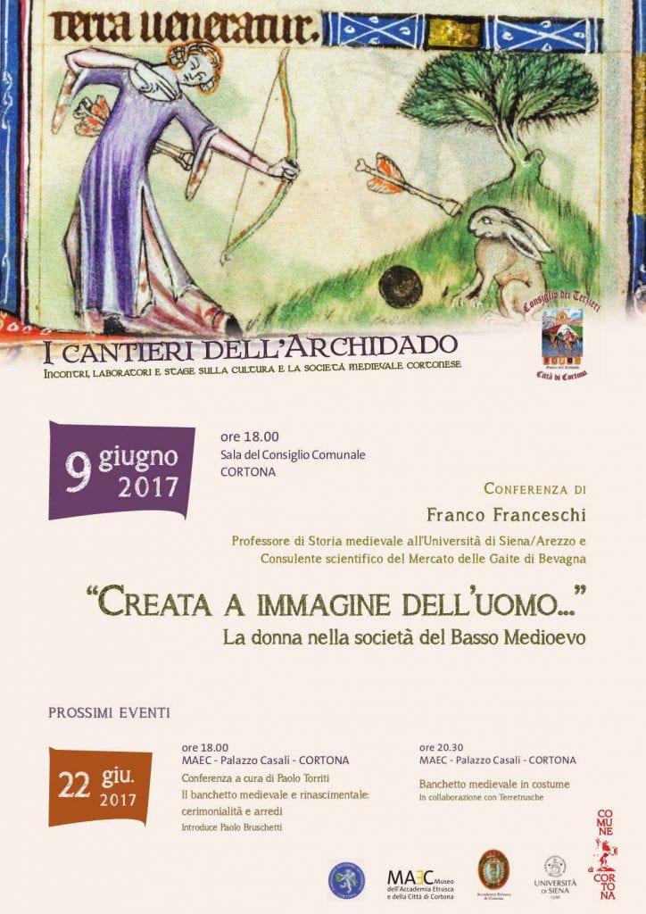 La donna nel basso Medioevo: conferenza per