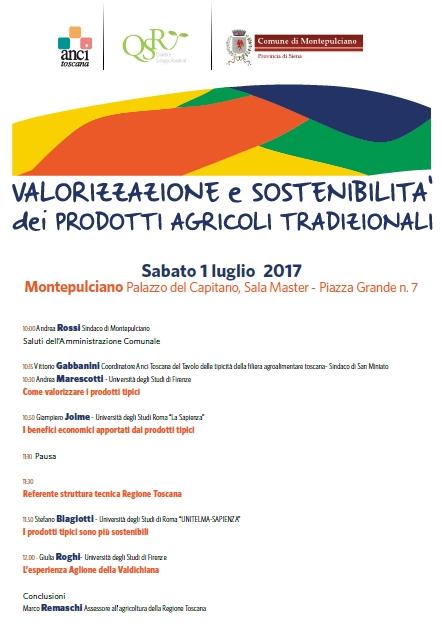 'Valorizzazione e sostenibilità dei prodotti agricoli tradizionali', convegno a Montepulciano