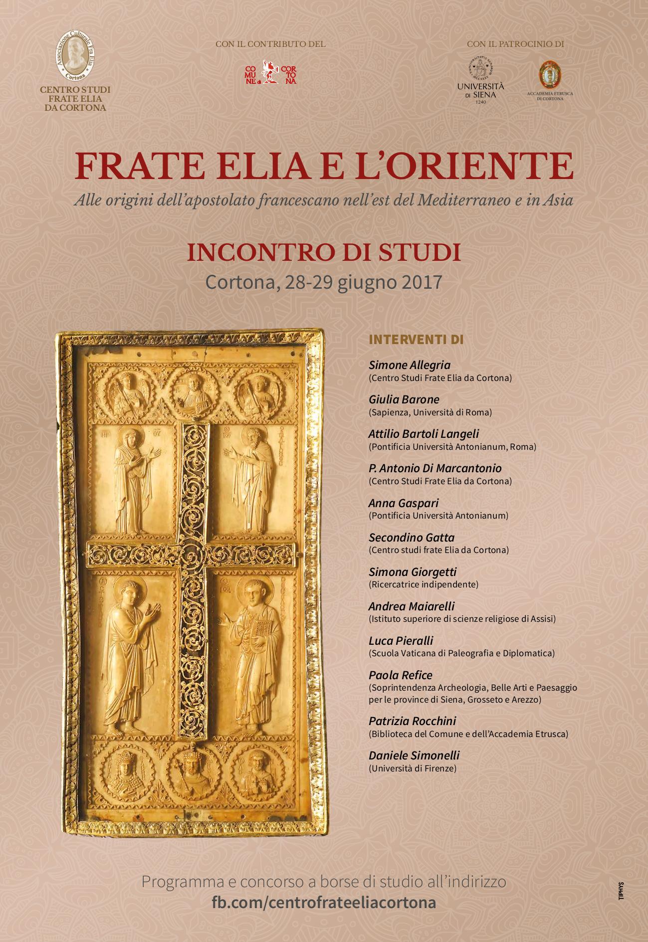 'Frate Elia e l'Oriente', incontro di studi a Cortona
