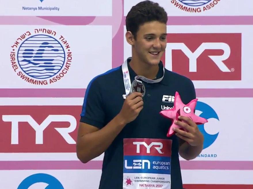 Nuoto: Pinzuti convocato in nazionale per i Mondiali Junior
