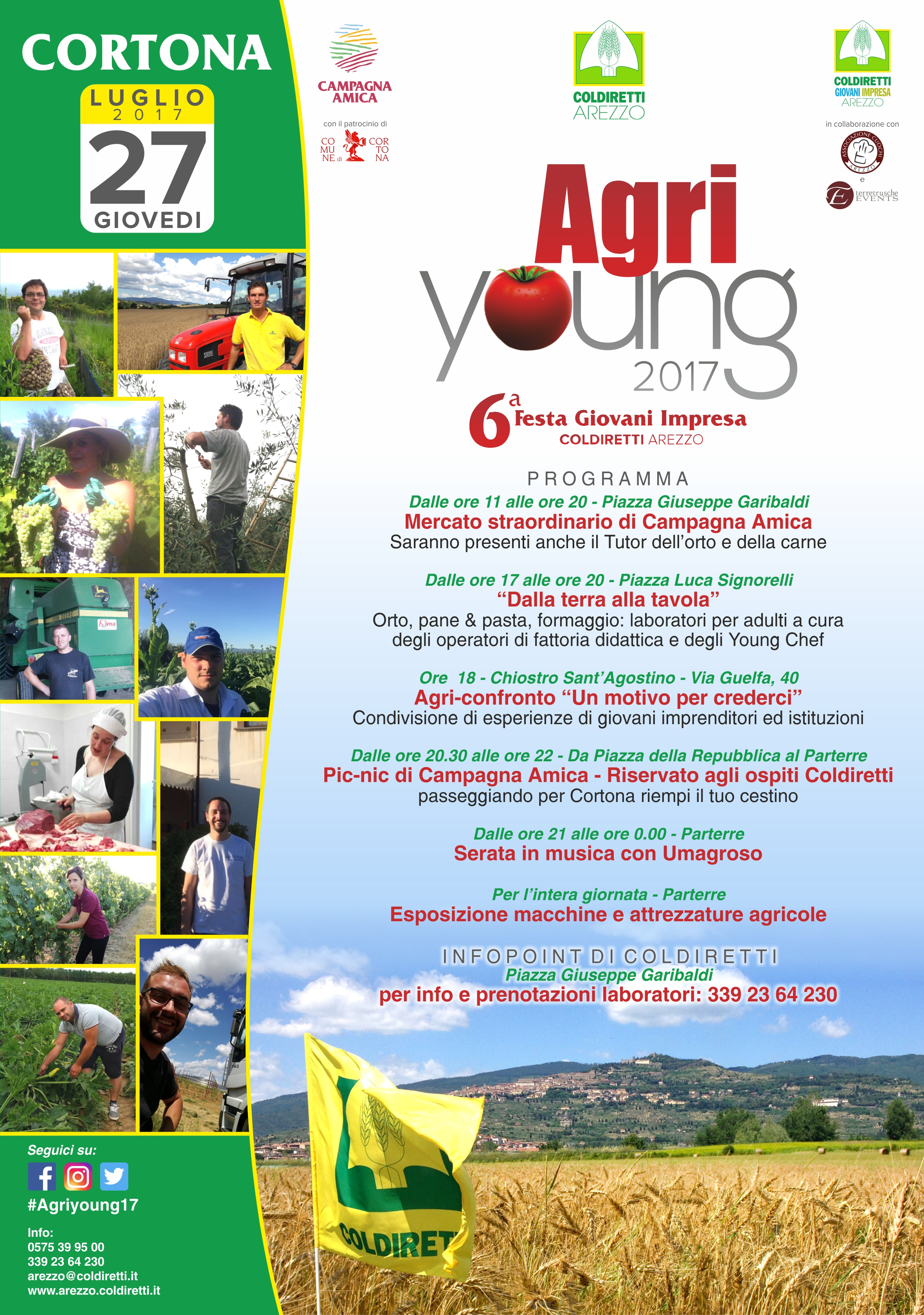 A Cortona Agri Young, la festa dei giovani di Coldiretti