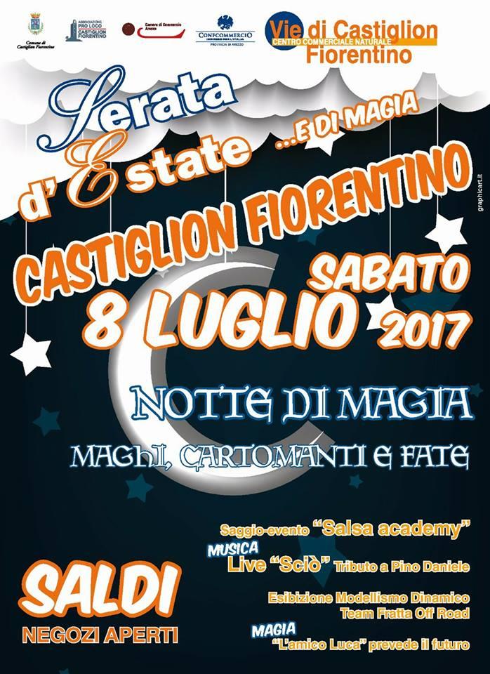 'Serata d'estate' a Castiglion Fiorentino, tanti eventi con la notte dello shopping