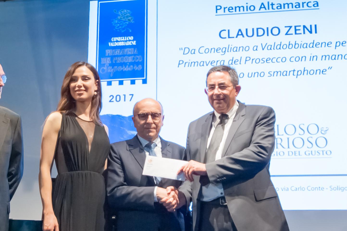 Al giornalista savinese Claudio Zeni il premio