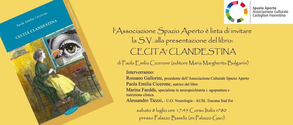 'Cecità clandestina', a Castiglion Fiorentino la presentazione del libro di Paola Emilia Cicerone