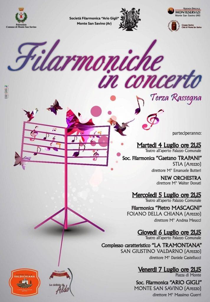 Filarmoniche in concerto, cresce ancora la rassegna a Monte San Savino