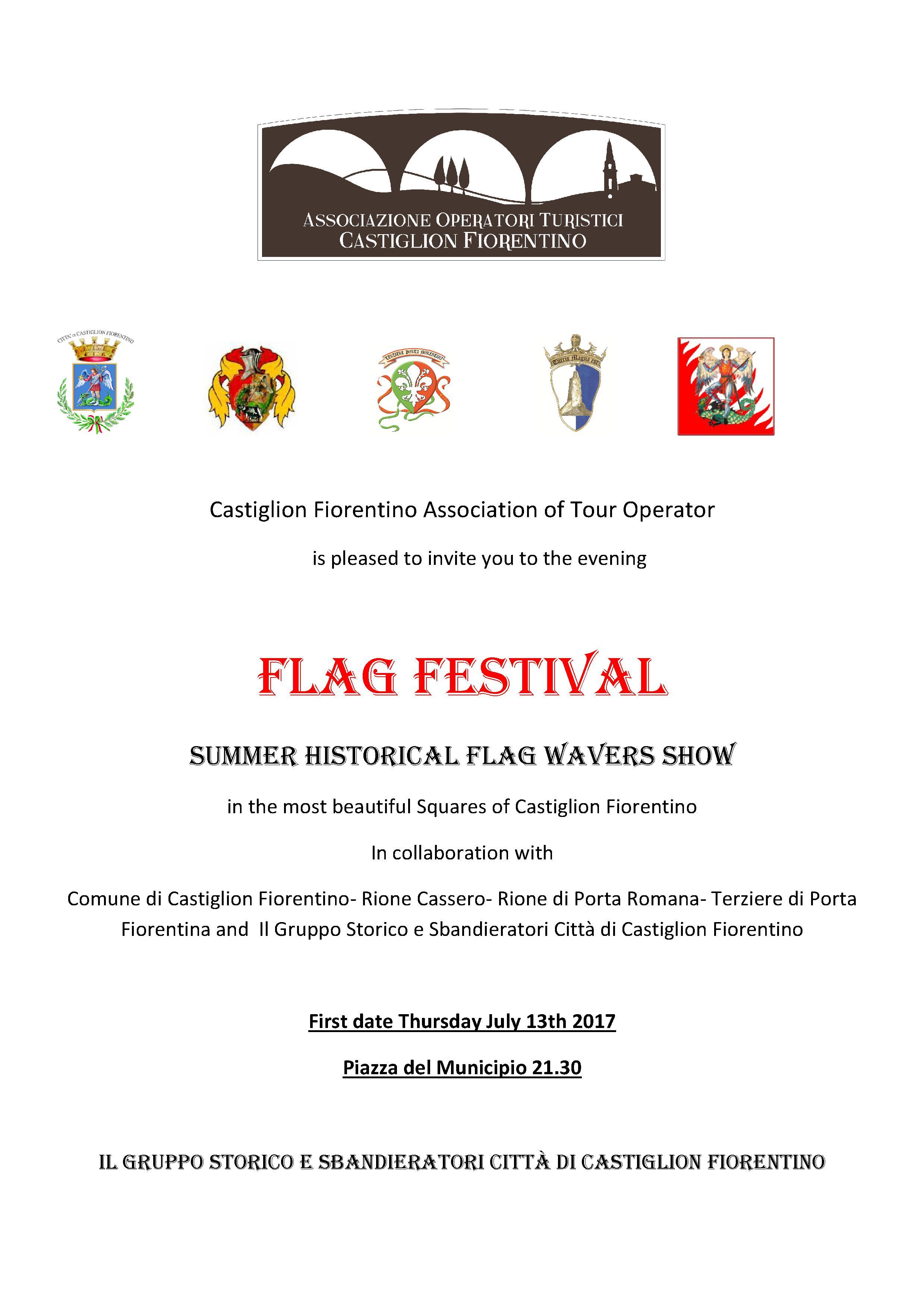 Torna a Castiglion Fiorentino il 'Festival delle bandiere'