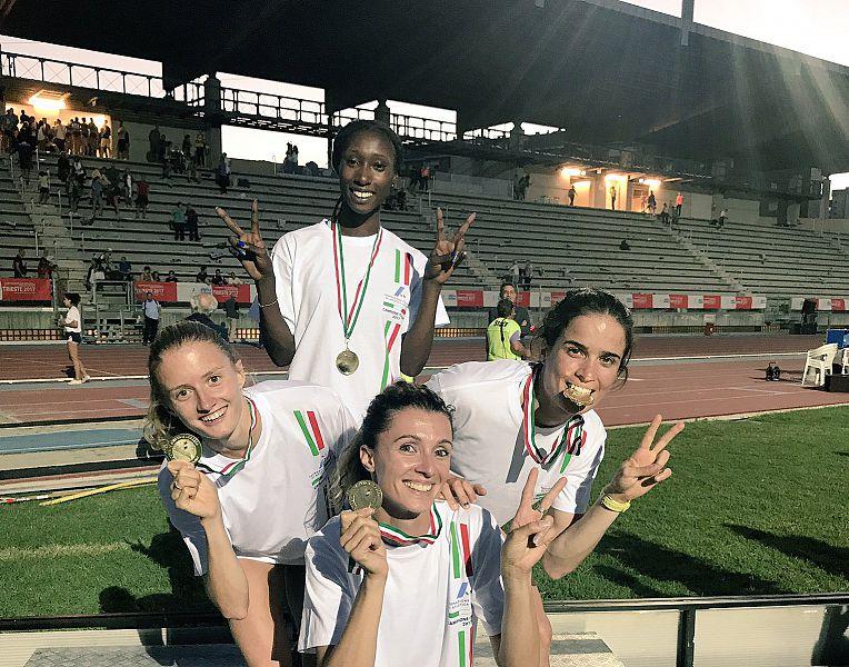 Bazzoni oro con la staffetta 4x400 dell'Esercito ai campionati italiani