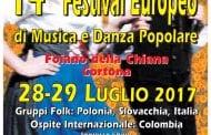 Festival Europeo di Musica e Danza Popolare, edizione numero 14 a Cortona e Foiano