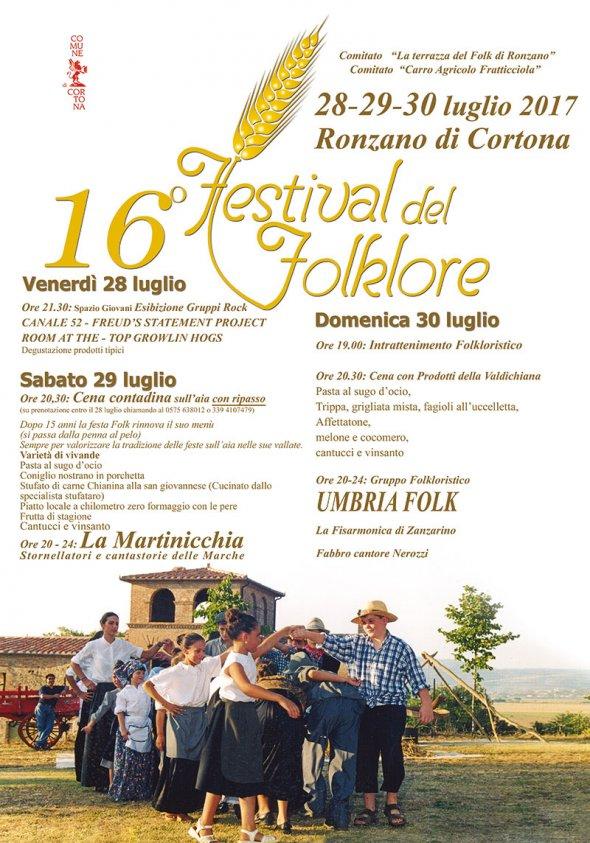 A Ronzano il 16esimo Festival del Folklore con la cena contadina
