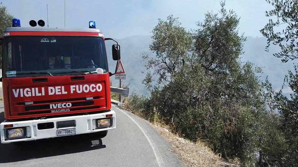 Fiamme in un campo a Montecchio, muore 82enne