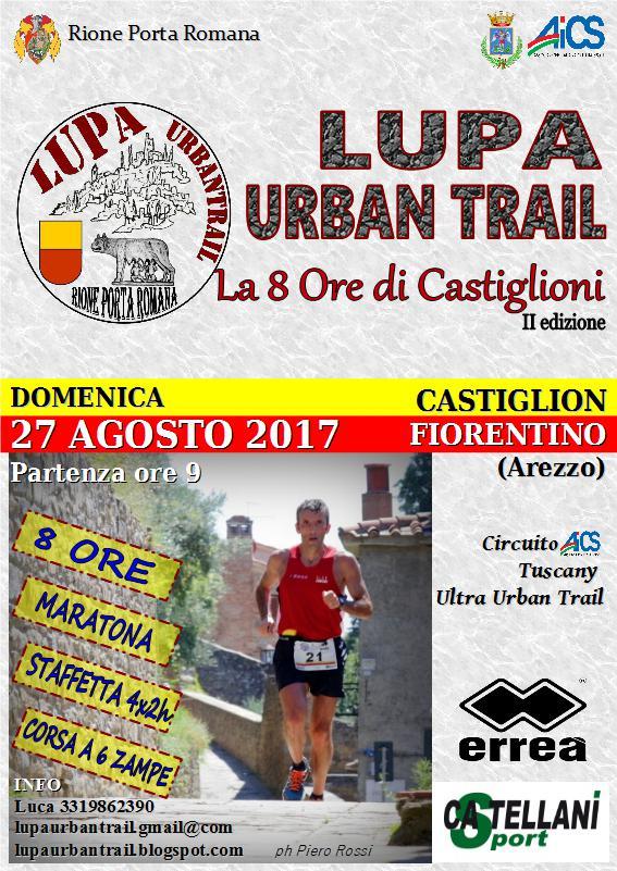Domenica la Lupa Urban Trail, la 8 ore di Castiglioni