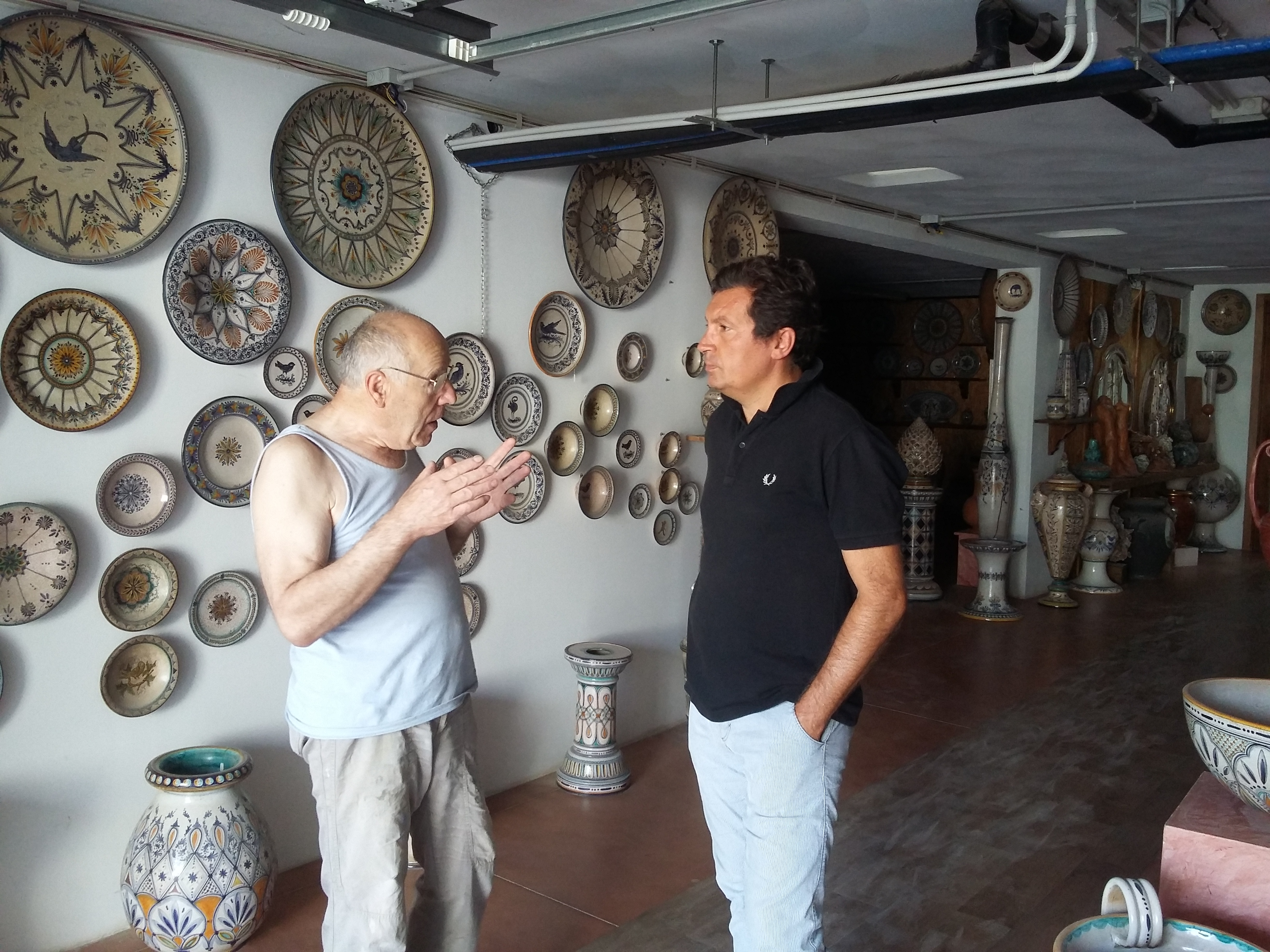 Il Sindaco Agnelli dal ceramista Matteo Capitini