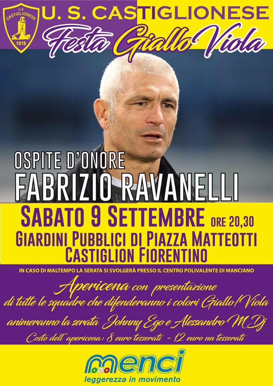 Festa giallo - viola, l'ospite d'onore è Fabrizio Ravanelli
