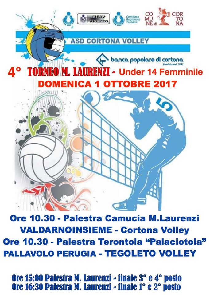 Torneo di Volley Marco Laurenzi, quest'anno protagoniste le Under 14 femminili