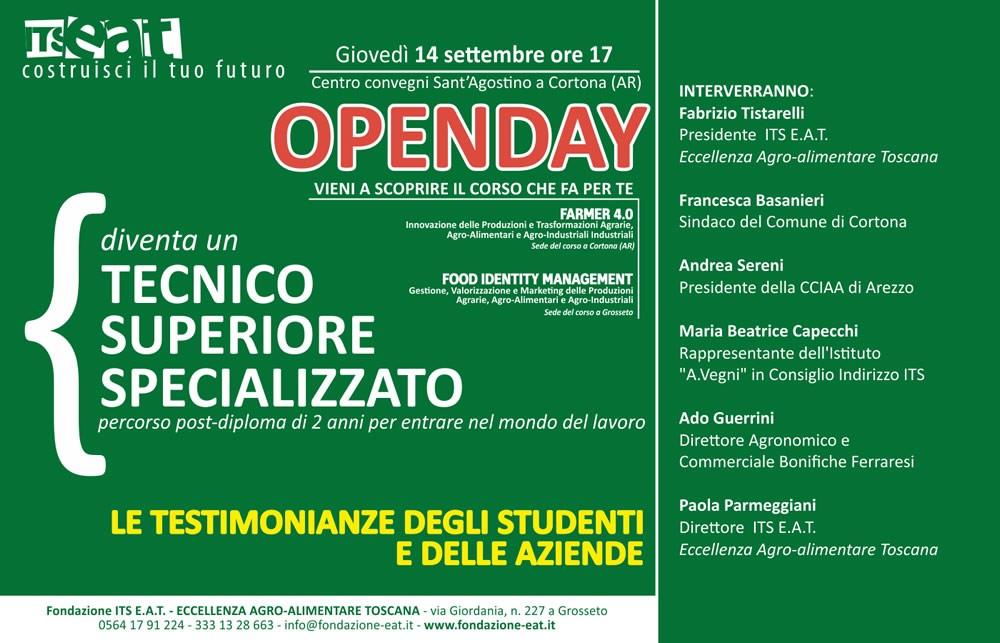 Open day per il nuovo indirizzo post-diploma