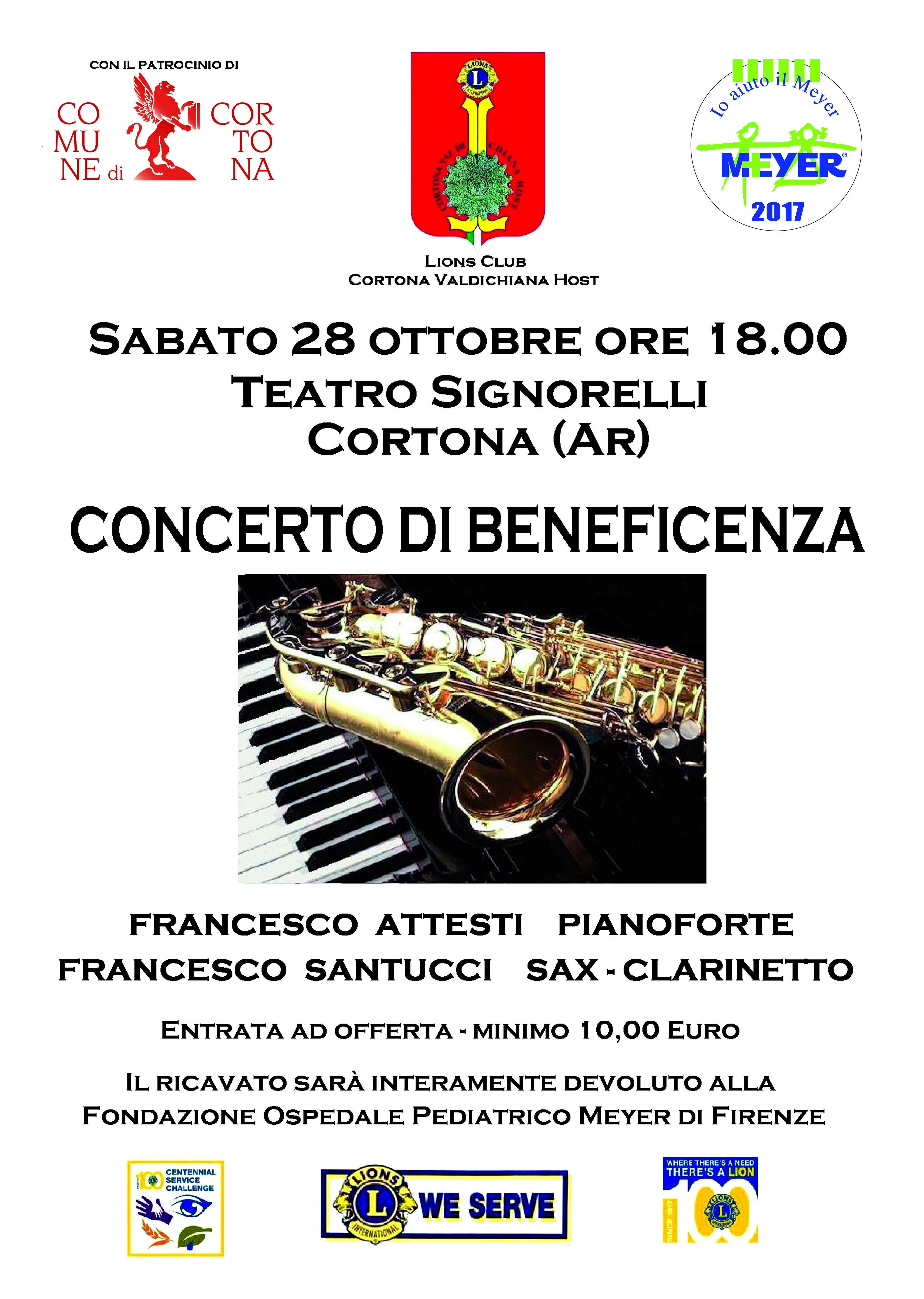 Al Signorelli concerto di beneficienza per l'Ospedale Meyer di Firenze