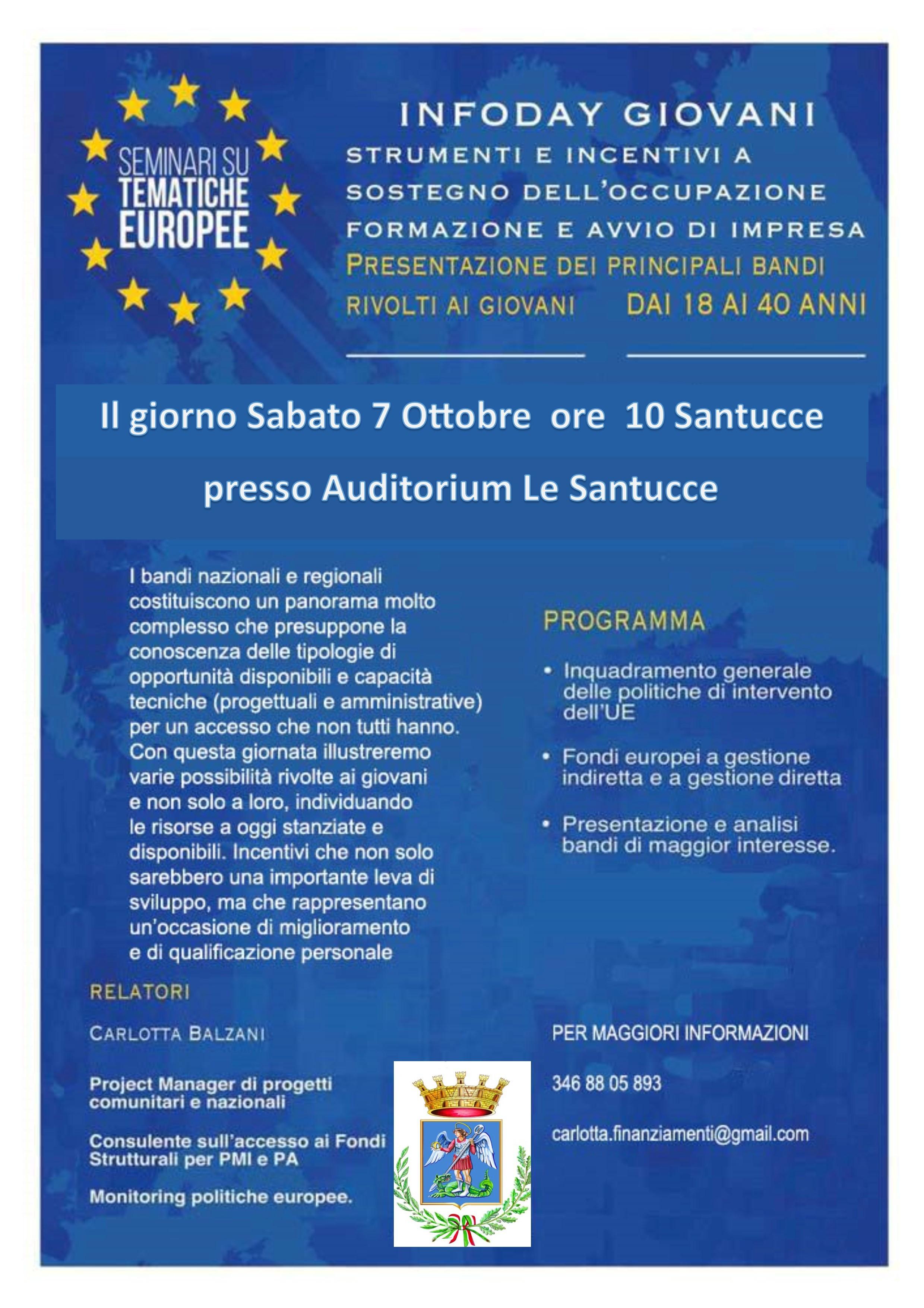 InfoDay Giovani all'auditorium Le Santucce