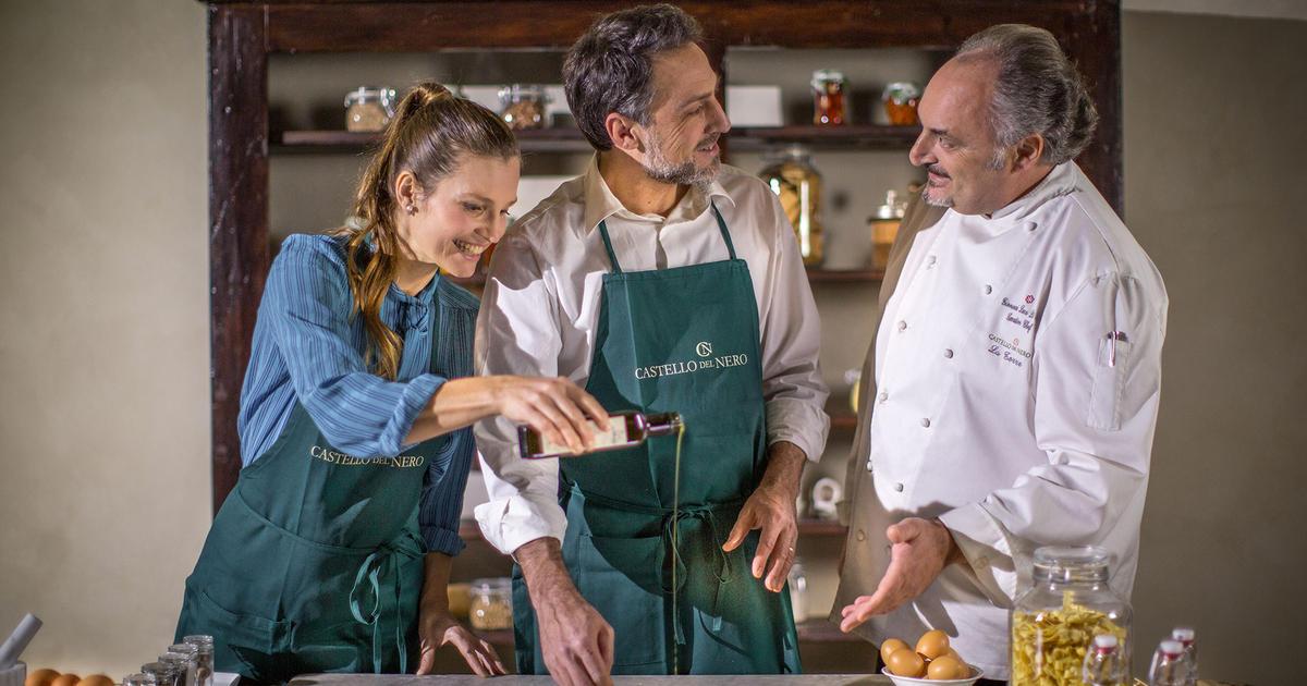 Al Castello del Nero cena a 4 mani con Zazzeri e Di Pirro