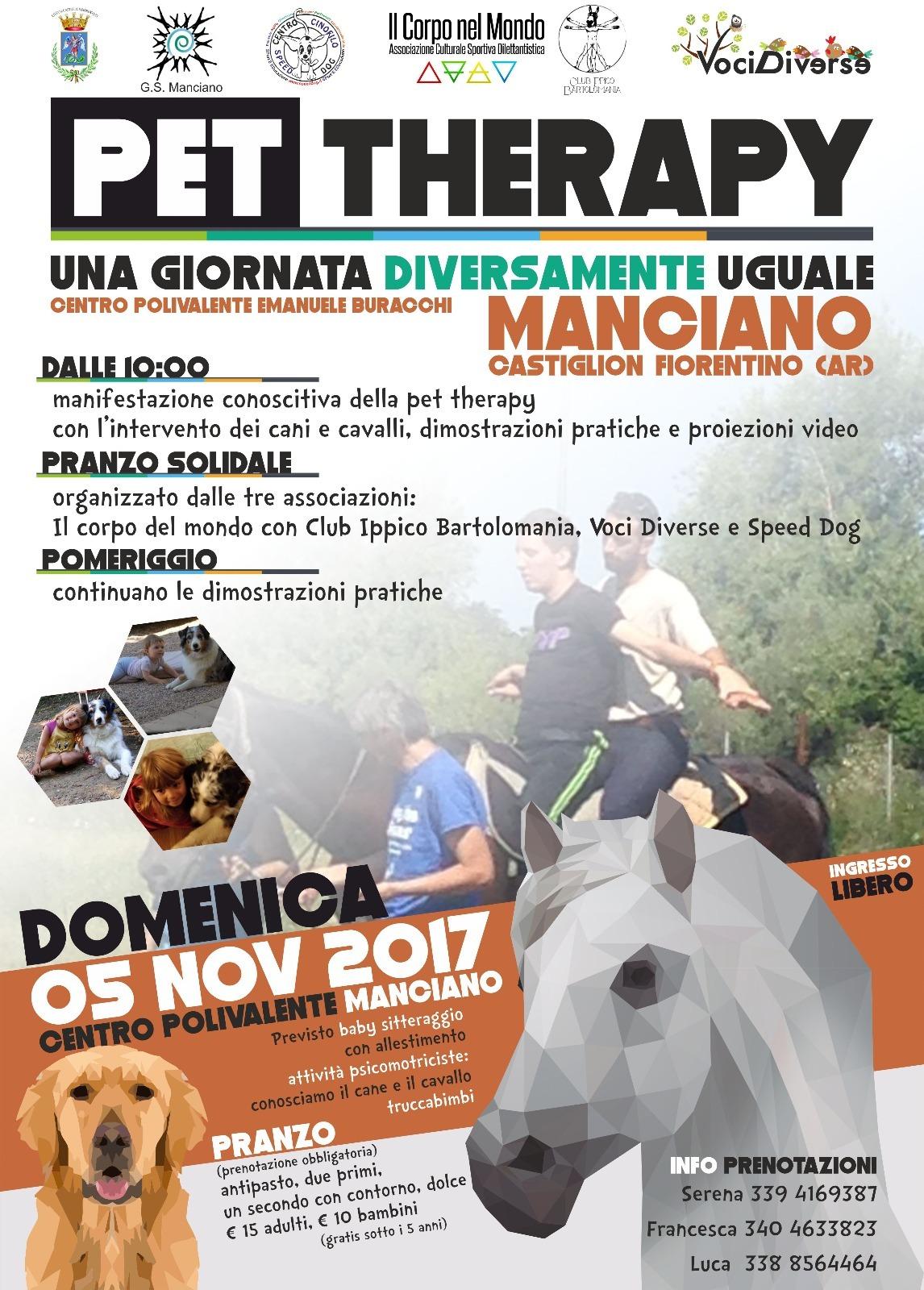 Pet Therapy, giornata informativa a Manciano