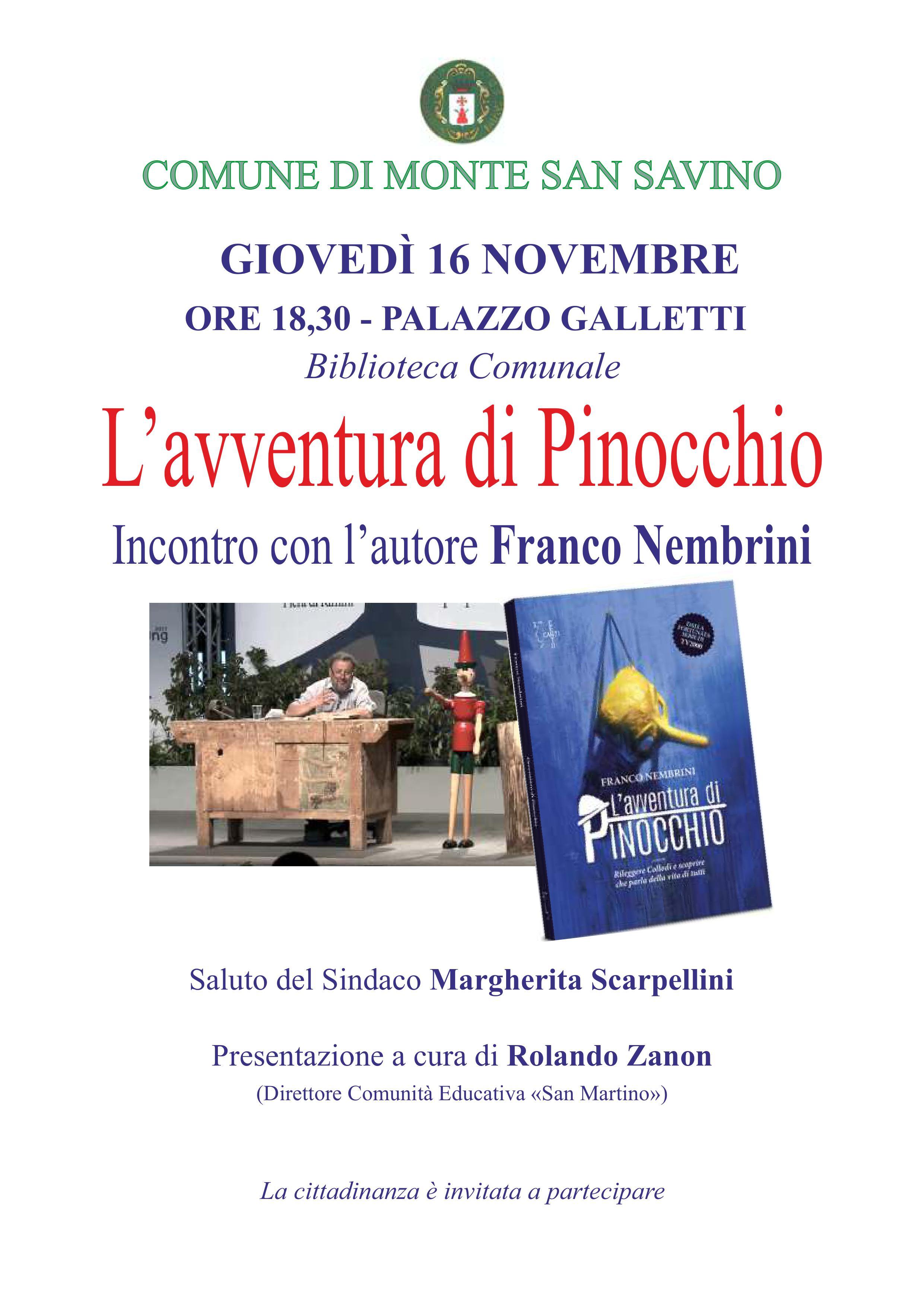 L'avventura di Pinocchio alla Biblioteca Comunale di Monte San Savino