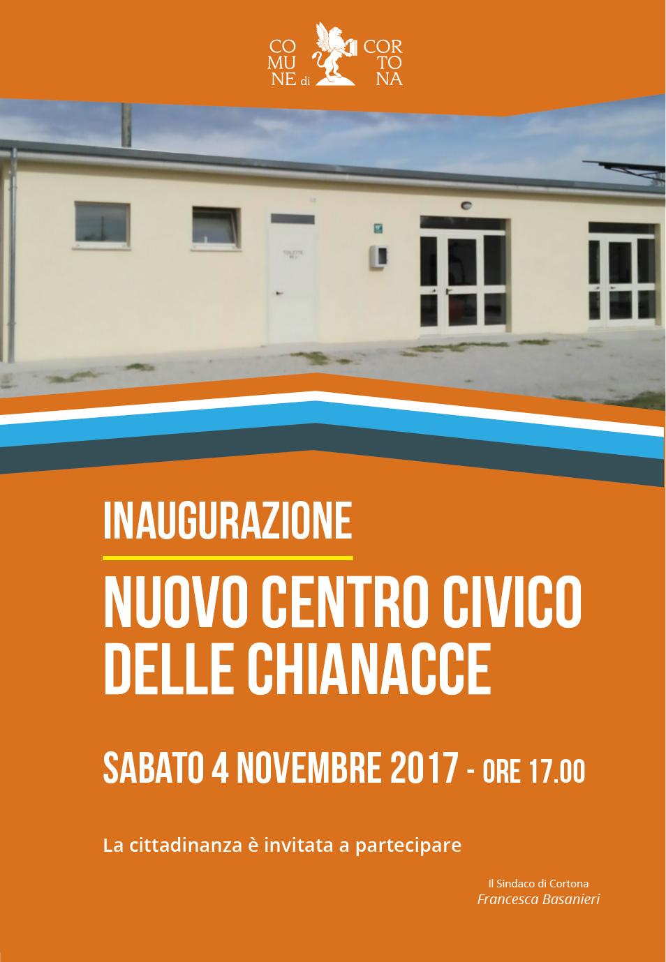Nuovo Centro Civico di Chianacce, sabato l'inaugurazione