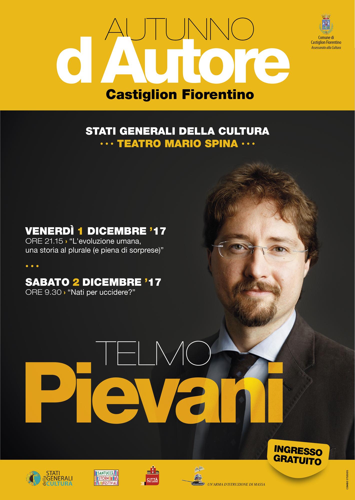 Telmo Pievani a Castiglion Fiorentino