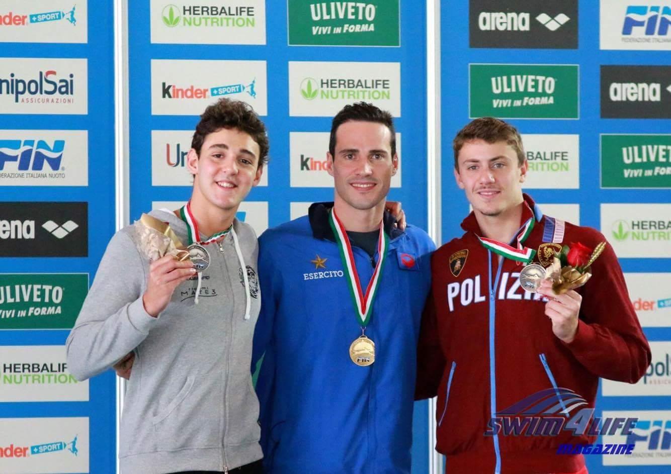 Pinzuti argento sui 50 rana ai Campionati Italiani Assoluti