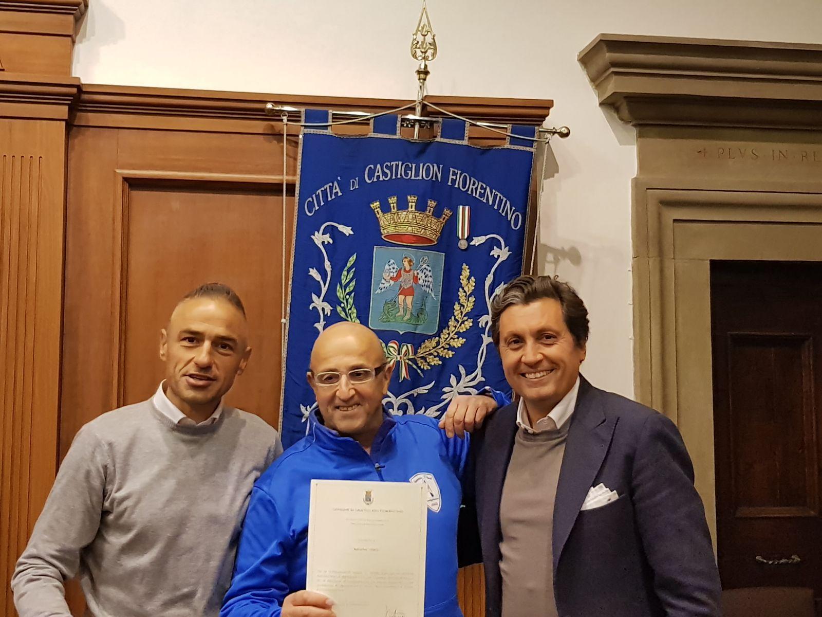 Un riconoscimento a Valerio Ballerini, un pezzo di storia del tennis castiglionese