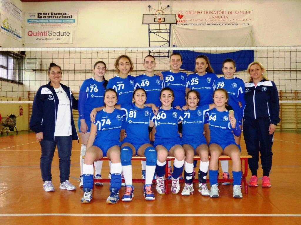 L'Under 14 femminile del Cortona Volley accede alla final four e alla fase regionale