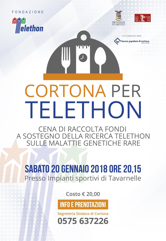 Cortona si mobilita per Tepethon: evento all'impianto sportivo di Tavarnelle