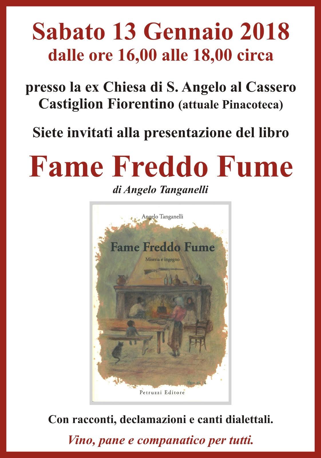 Fame freddo fume, presentazione del libro di Angelo Tanganelli a Castiglion Fiorentino