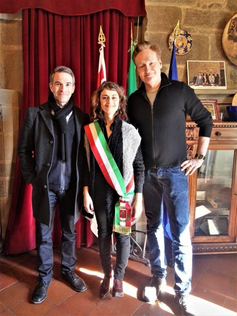Conan O'Brien a Cortona per una produzione televisiva