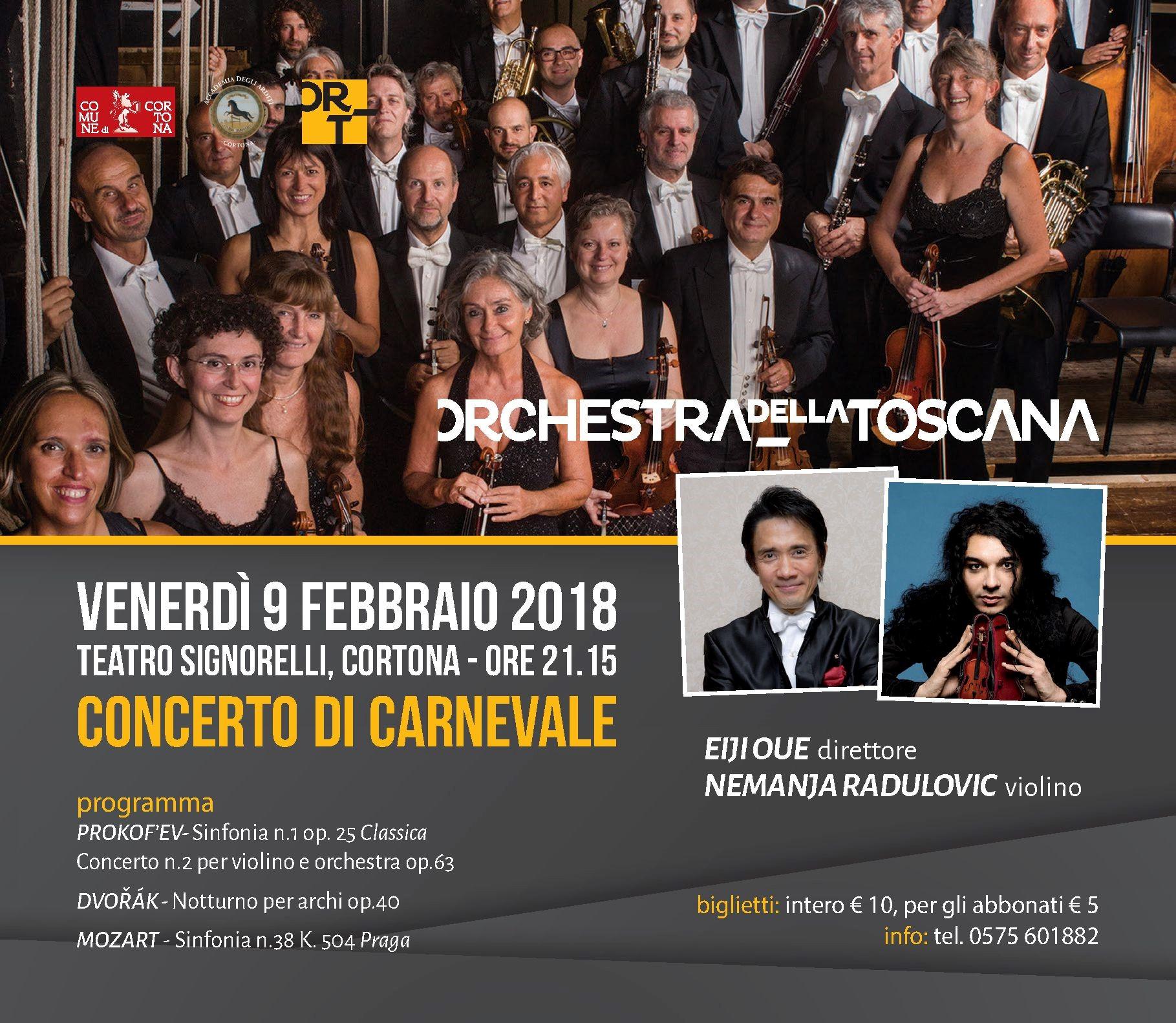 Concerto di Carnevale al Signorelli con l'Orchestra Regionale della Toscana