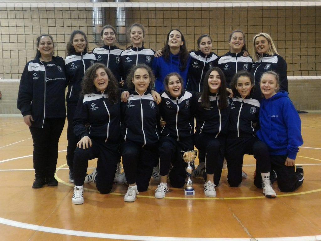 Volley: l'Under 14 femminile del Cortona Volley sul podio del campionato territoriale