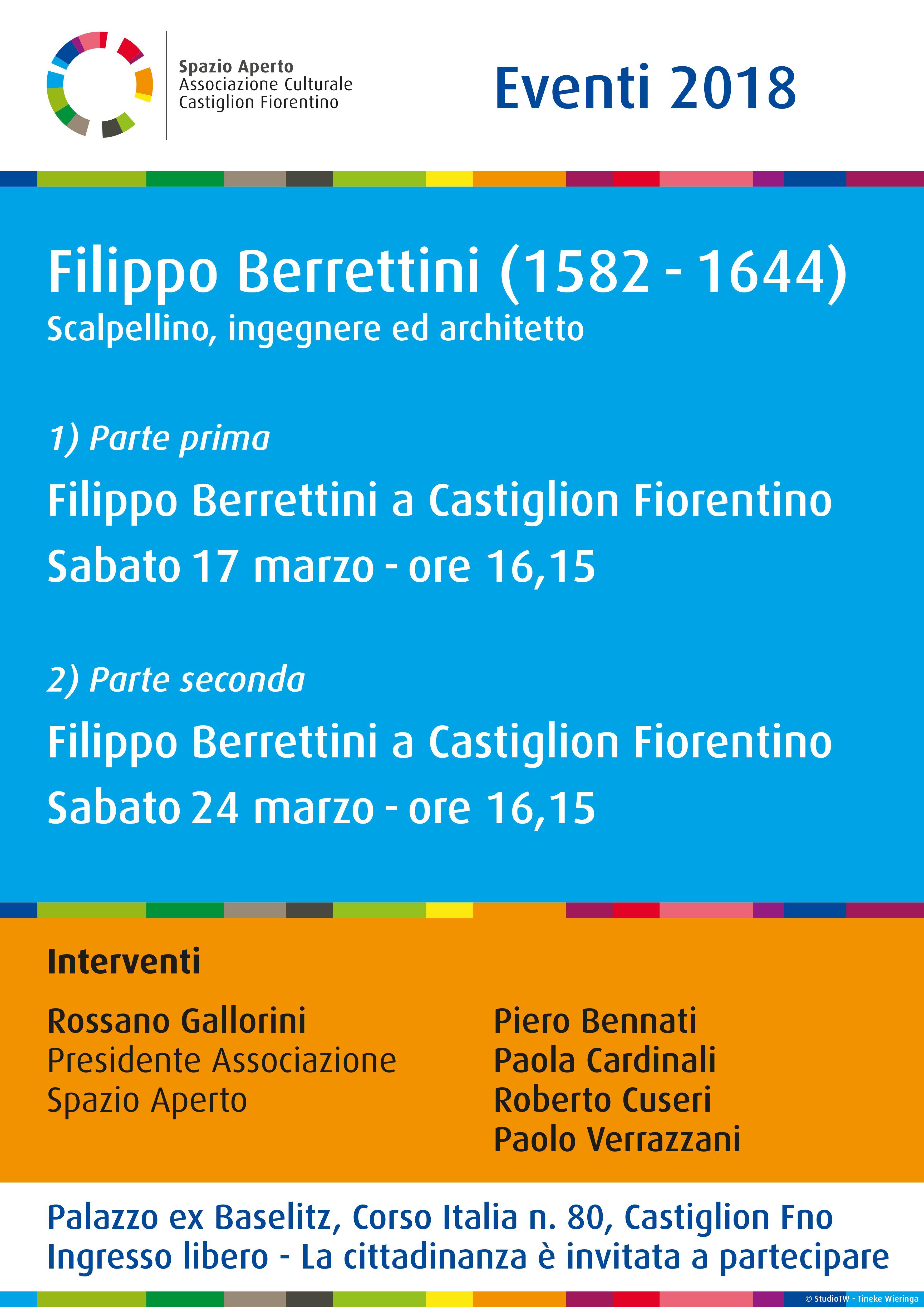 Vita e opere di Filippo Berrettini, incontro a Castiglion Fiorentino