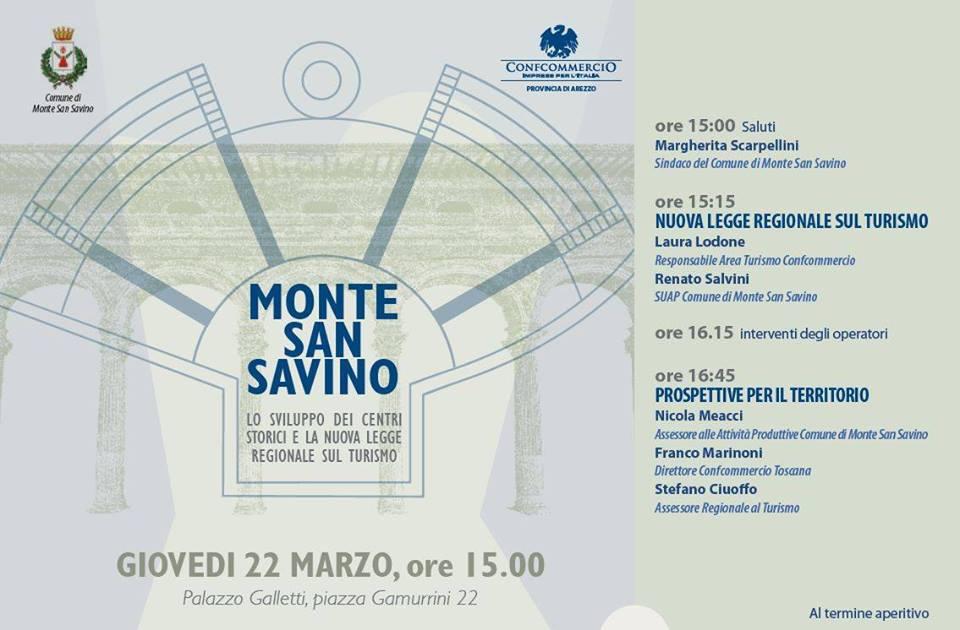 Monte San Savino, un convegno per parlare di Turismo