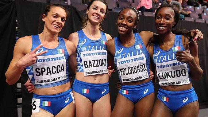 Bazzoni quarta ai mondiali indoor con la 4x400