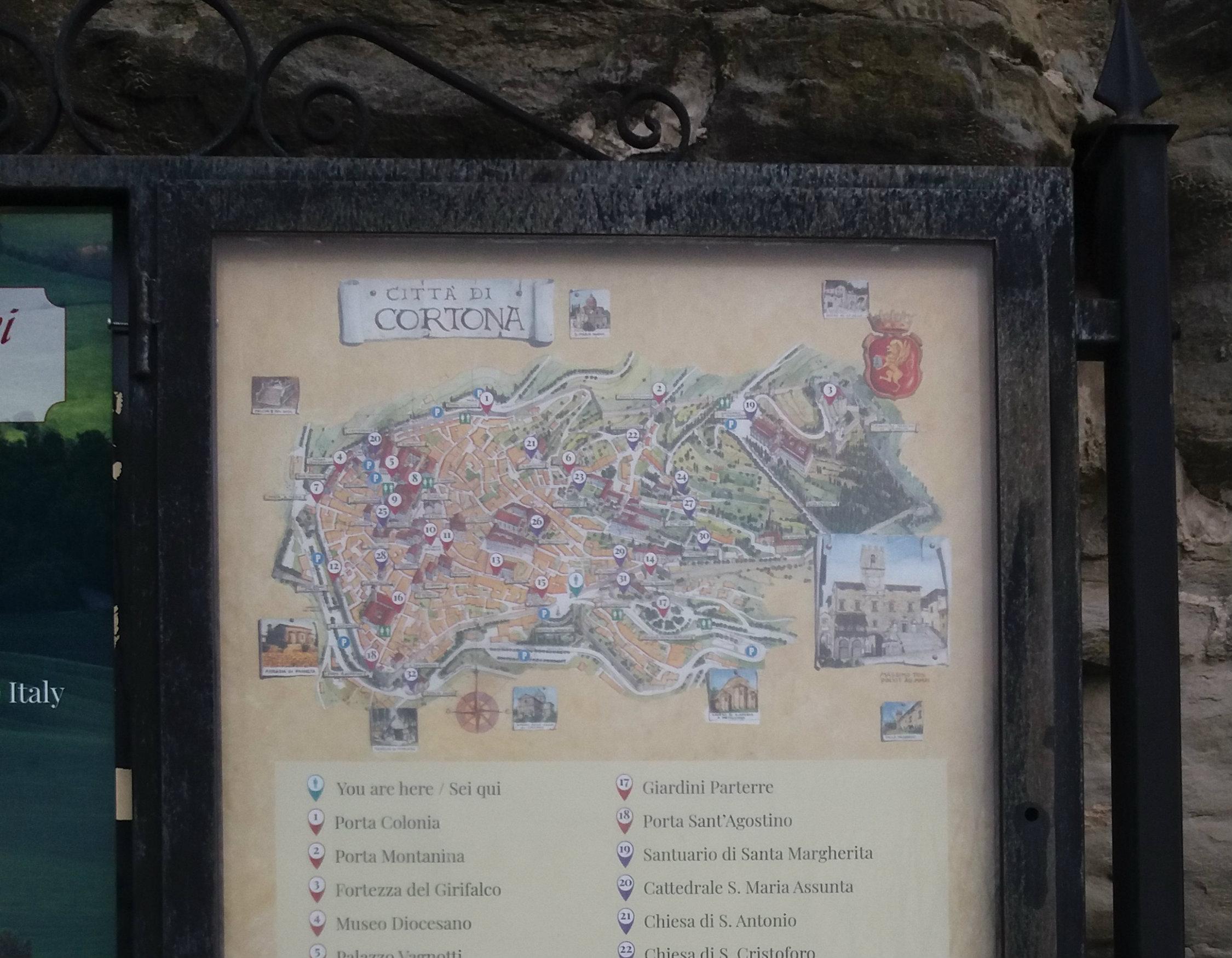 Cartina nuova, Cortona è tornata