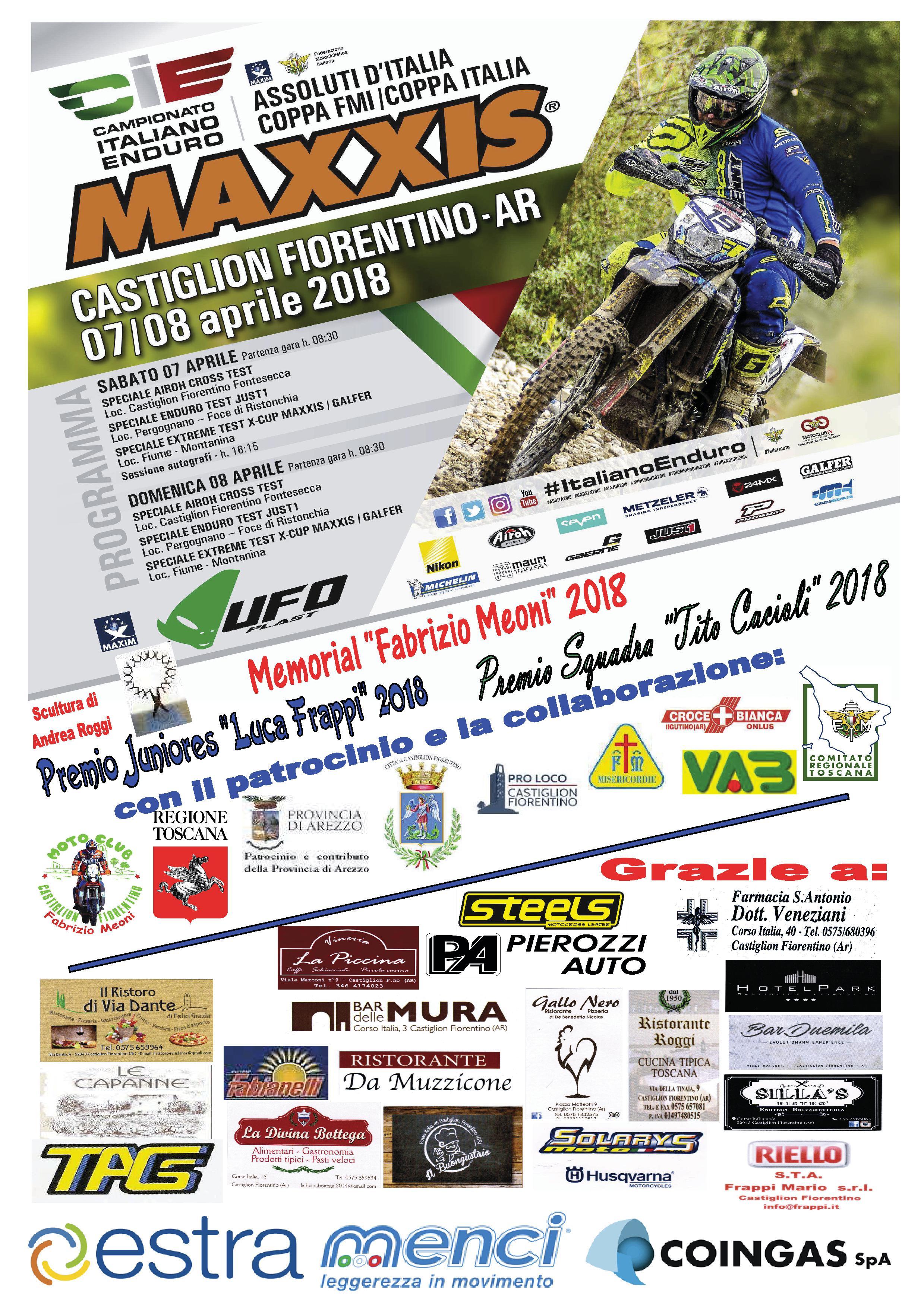 Campionato Italiano Enduro a Castiglion Fiorentino: al via in 160